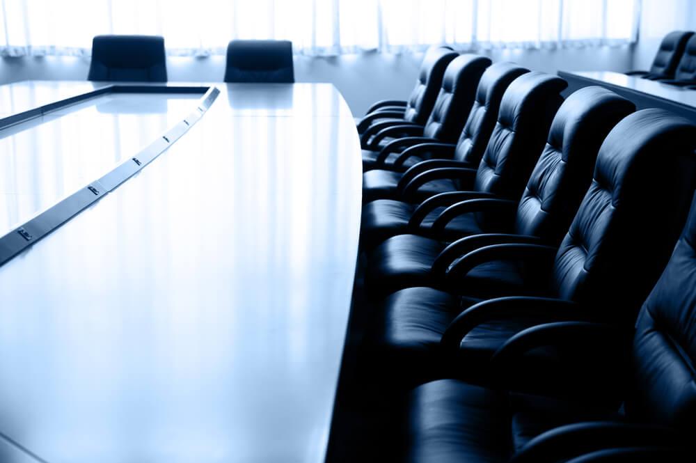 emty board room before meeting